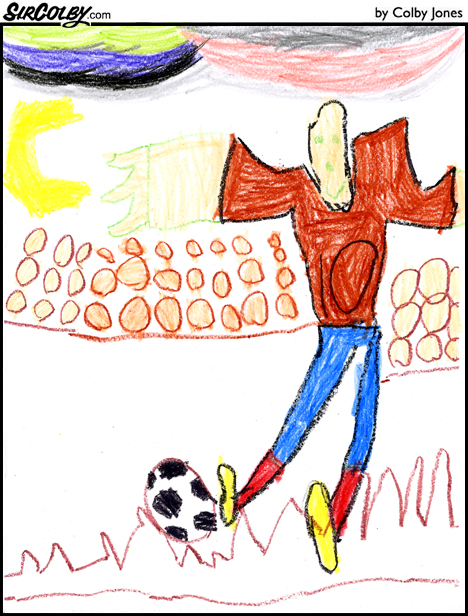 football ball drawing. Drawing thereby Players: How