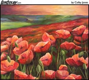 poppy-field-at-sunset