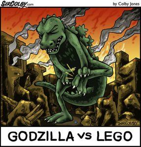 Godzilla vs Lego